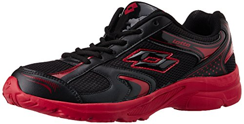 Lotto Men's Trojan Black And Red Mesh Running Shoes - 7 Uk/india (41 Eu)