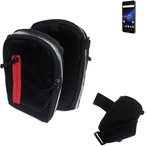 K-S-Trade Outdoor Gürteltasche Umhängetasche für Phicomm Passion 4 schwarz Handytasche Case travelbag Schutzhülle Handyhülle