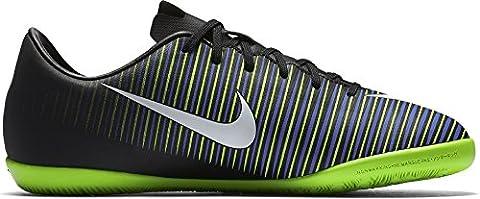 Nike Jungen 831947-013 Hallenfußballschuhe, Black (Schwarz / Weiß-Elektro-Grün), 35,5 EU