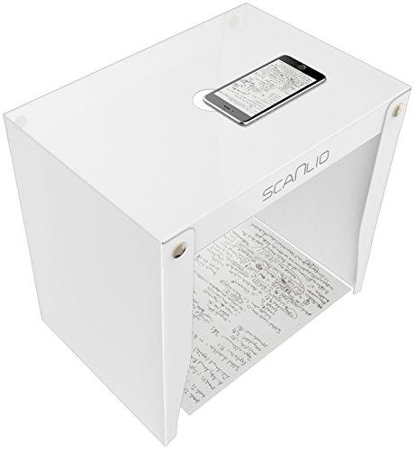 Scanlio Scan Stand, numérisation mobile avec smartphone ou tablette, trépied pour téléphones portables, scanner de documents à faible coût