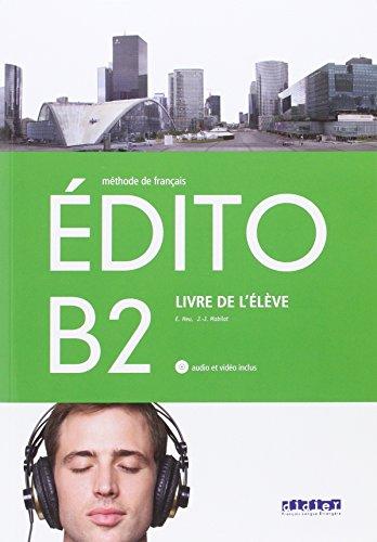 EDITO B2 ELEVE+CD+DVD - 9788490492055 por Varios autores