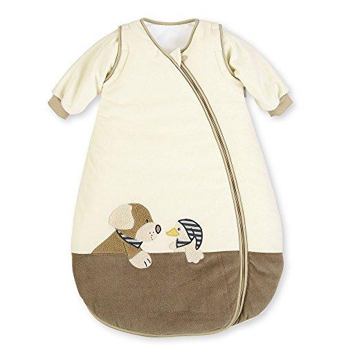 Sterntaler Schlafsack für Kleinkinder, Abnehmbare Ärmel, Wärmeregulierung, Reißverschluss, Größe: 90, Hanno, Crème/Braun (Weiche Decken Für Teens)