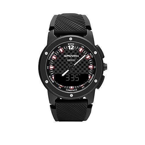 Lixada Männer Analog Kompass Digital Dual Time Display Uhr Outdoor Smart Sport Höhenmesser Barometer Uhr 50 Mt Wasserdicht
