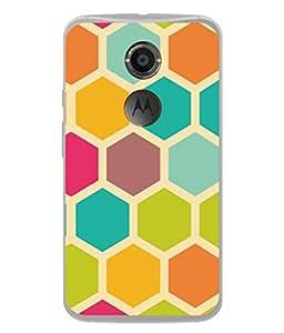 PrintVisa Designer Back Case Cover for Motorola Moto X2 :: Motorola Moto X (2nd Gen) (Bee Hive Glossy Circles Dots Yellow Green)