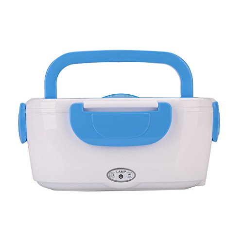 Sedeta® 1.2Lmini Elektrische Heizung Lunch Box Aufbewahrungswärmer Auto Trave Lebensmittel Boxen Tragbar für die tägliche Arbeit Blau Elektronische Komponente Box
