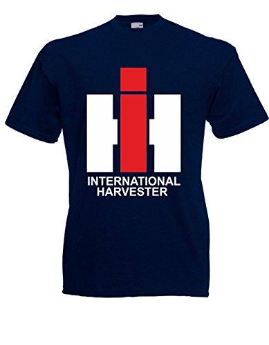 T-Hemd - IHC (International Harvester) (L, Blau) (Harvester International)