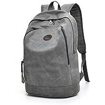 8eefffec273c6 Rucksäcke Daypacks SOMESUN Damen Herren Studenten Backpack aus Baumwoll  Canvas 17 Zoll Laptop Rucksack für 15