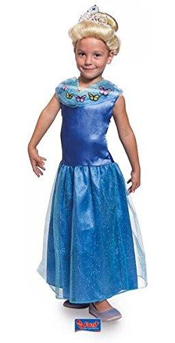 essin Dress Cinderella Luxus, Größe M, blau (Niedlichen Kinder Halloween Bilder)