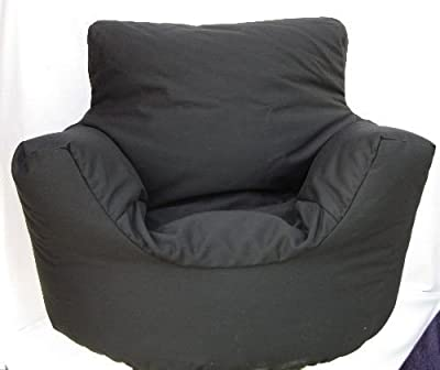 Cotton Black Bean Bag Arm Chair Seat Hallways ® - cheap UK chair store.