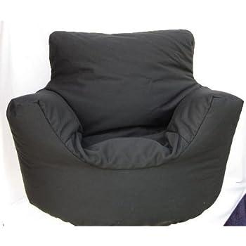 cotton black bean bag arm chair seat hallways kitchen home. Black Bedroom Furniture Sets. Home Design Ideas