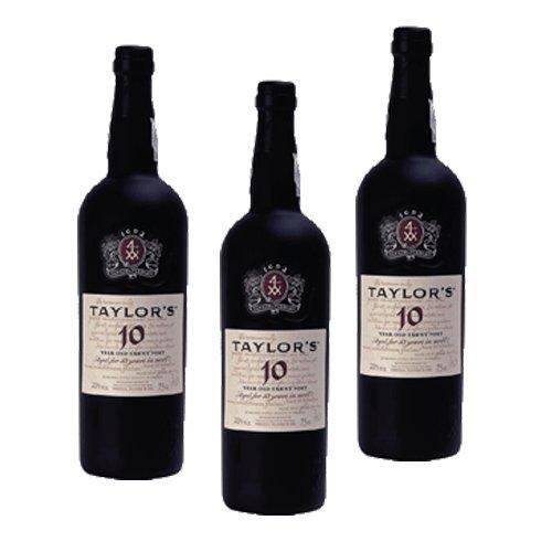 3 Flaschen Taylor's Port Tawny 10 Years Old, Dessertwein, Portwein, 3 x 0,75 Liter