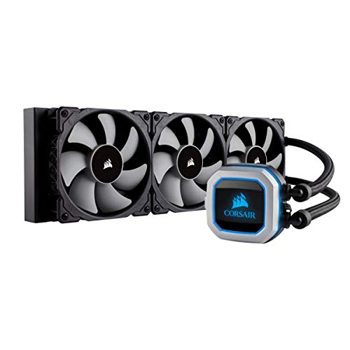 CORSAIR HYDRO Series H150i PRO RGB Refroidissement Liquide, Radiateurs 360mm, Trois Ventilateurs PWM ML120, Eclairage RGB Avancé, Compatible Socket Intel 115x/2066 et AMD AM4