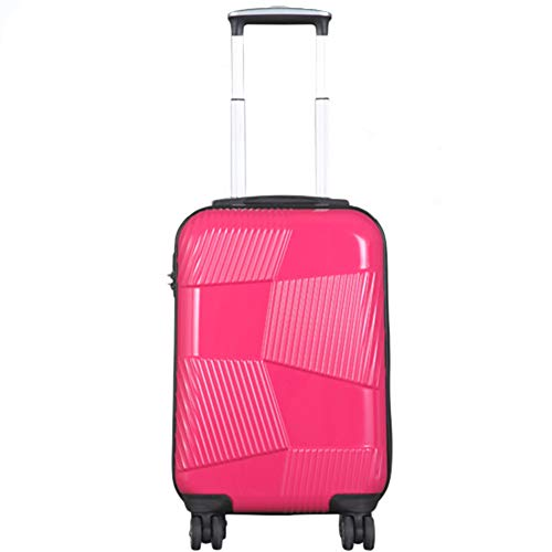 Männer und Frauen Trolley Case ABS + PC Waterproof und Shockproof 360 ° Universal Wheel Zipper Code Lock Large Capacity Koffer,Red,19inch Code Red Zipper