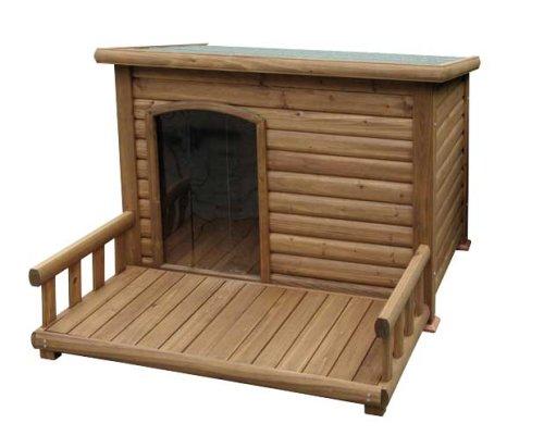 Kerbl Hundehütte mit Terrasse, 113 x 127 x 83 cm