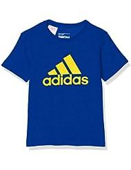 adidas Yb Ess Logo Tee - Camiseta para niños de 7-8 años, color azul