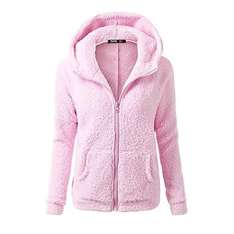 Women Casual Long Hoodies Sweatshirt Coat Pockets Zip Up Outerwear Hooded Jacket Plus Size Tops (XL,