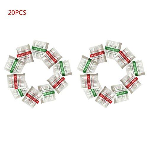 Aiming 20pcs / Set PH-Test Meter Kalibrierlösung pH-Puffer Powder 4,01/6,86 Kalibrierungspunkt messen -