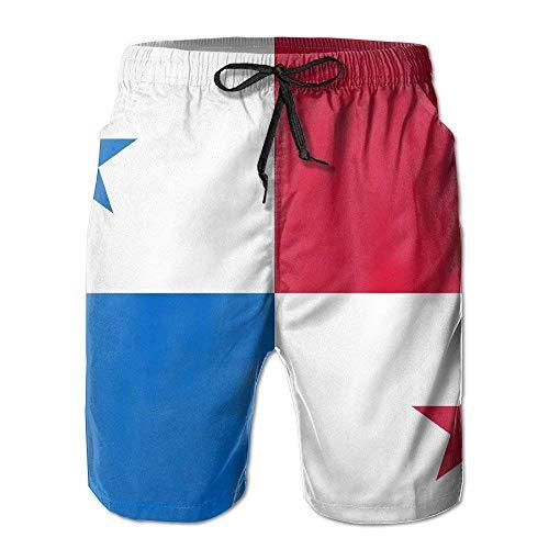 Jhonangel Strand Surfer Panama Länder Flagge Sommer Schnelltrocknend Board Short Badehose für Männer M