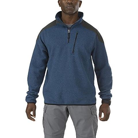 5.11 Men's Tactical Quarter Zip Sweater, Regatta, Large