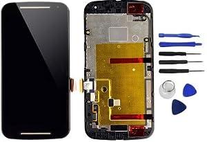 Motorola Moto G2 XT1068 Display LCD Glas Touchscreen Rahmen + Werkzeug