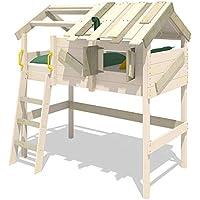 Preisvergleich für WICKEY Kinderbett Spielbett CrAzY Cove mit Dach 90x200 cm Hochbett Etagenbett