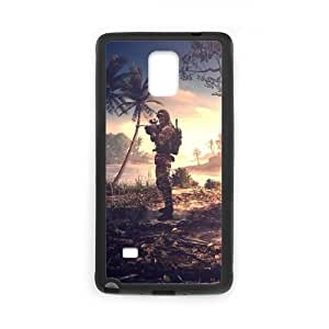 Battlefield 4 coque Samsung Galaxy Note 4 cellulaire cas coque de téléphone cas téléphone cellulaire noir couvercle EEECBCAAJ09098