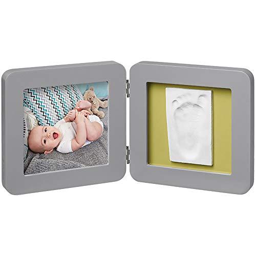Baby Art My Baby Touch Print Frame, 2er Bilderrahmen für Foto, Hand und Fußabdruck, rund, grau - Kinder, Bilderrahmen Runde