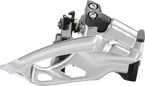 Shimano Deore FD-M615 Umwerfer Top Swing 2 x 10-fach schwarz Ausführung Dual Pull, Schellenmontage 3 -