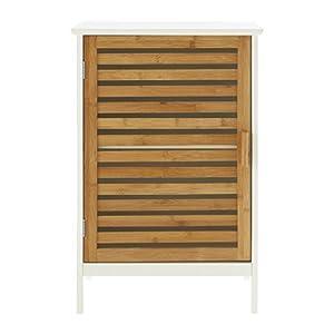 Premier Housewares – Armario para Pila de baño (bambú), Color Blanco