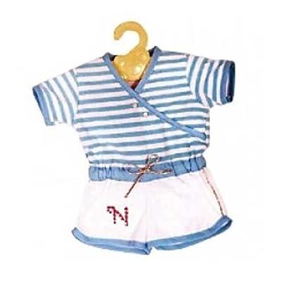 Nenuco Ropita con Percha - Pelele azul y blanco por Famosa