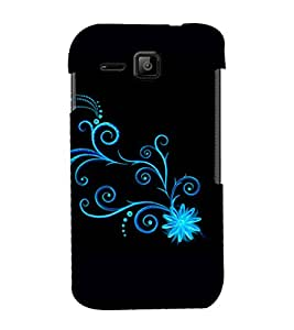 printtech Floral Pattern Wine Back Case Cover for Micromax Bolt S301