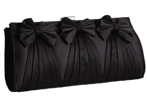 EyeCatchBags - Allure Ladies Prom Wedding Bridal Party Evening Clutch Bag Handbag Black