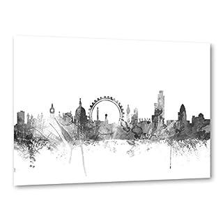 artboxONE Poster 30x20 cm Aquarell Städte Städte/London London England schwarzweiß hochwertiger Design Kunstdruck - Bild Aquarell Städte Städte/London von Michael Tompsett
