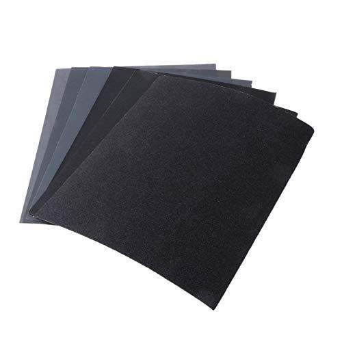 GLINSFDFE 20 Stück 9 Zoll runde Schleifpapierscheibe Sandklingen Grit 60-320 Klettschleifscheibe für Schleifmaschine