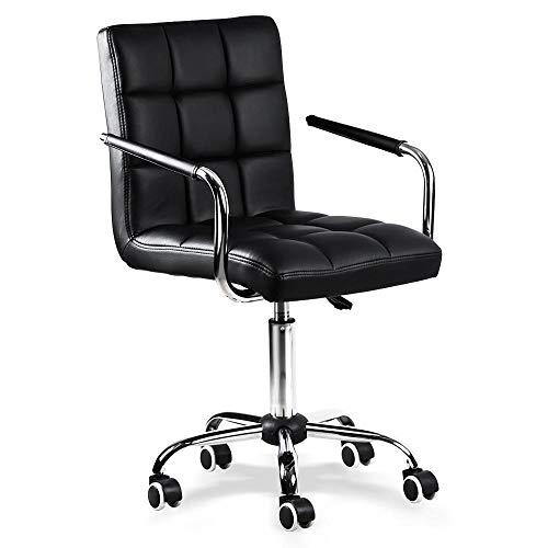 Yaheetech sedia da scrivania con ruote orientabile moderna