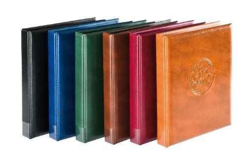 Lindner Half Penny ringbinder incl. 10 coin pages 3107 - Couleur: brun clair