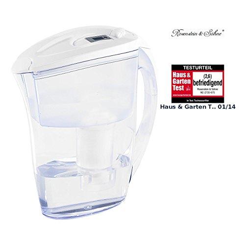 Preisvergleich Produktbild Rosenstein & Söhne Tisch-Wasserfilter,  2, 4 Liter,  mit Filter-Kartusche