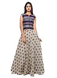 Inddus Navy Blue Banarasi Cotton Woven Lehenga Set
