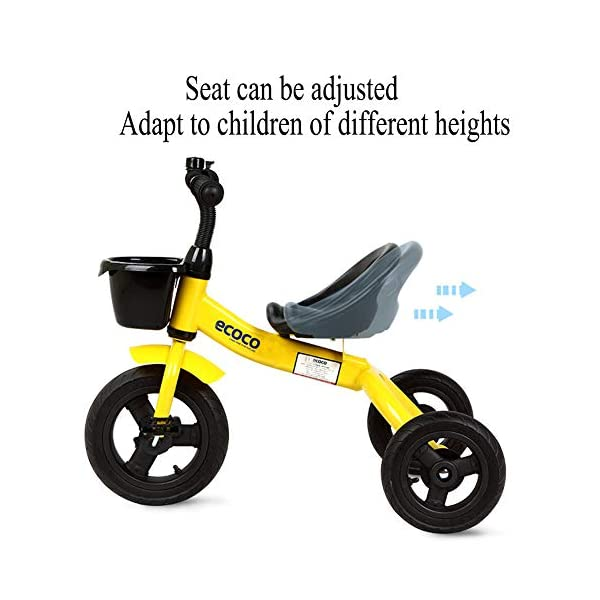 GSDZSY - Kids Tricycle 3 Wheel Bike,Rollover Prevention Design, Rubber Wheel (non-inflated),Adjustable Seat, With Steering Limiter,1.5-5 Years Old,C GSDZSY  3