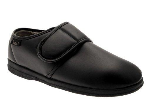 LD Outlet - Zapatillas estar casa hombre, color negro