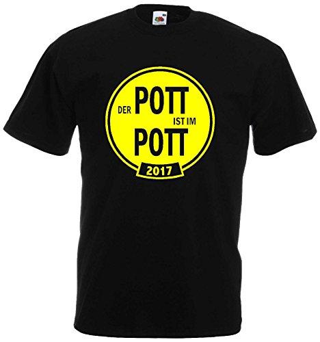 Dortmund Pokalsieger 2017 Berlin T-Shirt der Pott ist im Pott Schwarz