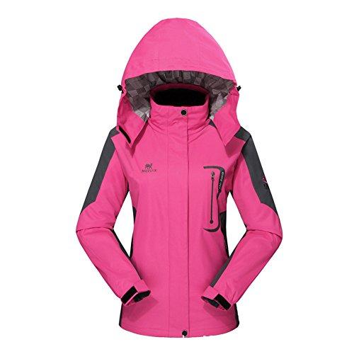 Diamond Candy Giacca a Vento softshell per Donna con cappuccio da Trekking Montagna Pouring Adventure e Outdoor Sports,Rosa XS