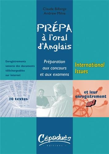 Prpa  l'oral d'anglais : International Issues