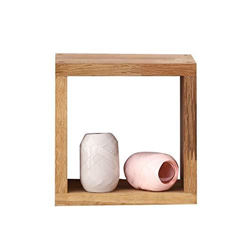 INMAN HOME 5 Tetris-förmige Wandregale, würfelförmig, massives Eichenholz, quadratische Boxen, CD-Display, Organizer, Moderne Heimdekoration, Holz, Eiche, Square Shape (Eiche Display-box)