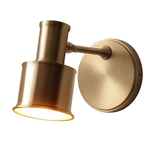 Arm-leuchter (ACZZ Moderner minimalistischer Messingbadezimmerspiegel beleuchtet Leuchter Nordic justierbare justierbare Schwingen-Arm-Metallwand-Lampe E27 Schlafzimmer-Nachttischlampe)