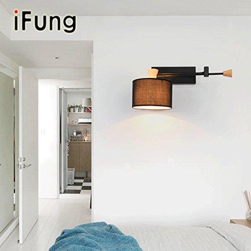 VanMe American Country Wohnzimmer Studie Einfache Klappbett Schlafzimmer Lampe Wandleuchte Teleskopeinstellung Eisen Lampe, Einem Schwenkarm