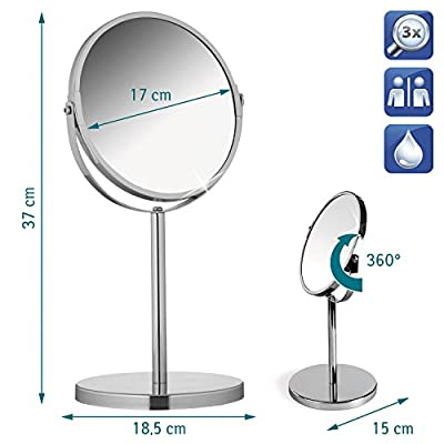 Tatkraft Double Sided Standing Cosmetic Mirror Venus D 17 cm - low-cost UK light store.