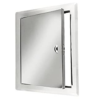 Awenta Inspection Flap Inspection Door Stainless Steel with Mounting Frame, Steel, Edelstahl, 400 x 600