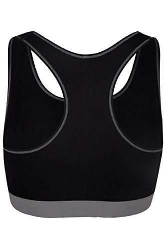 Palleon Damen Sport BH Bustier Stretch ohne Bügel Grau