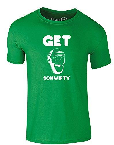 Brand88 - Get Schwifty, Erwachsene Gedrucktes T-Shirt Grün/Weiß